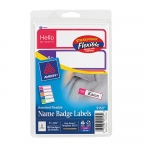 (3 Pk) Self Adhesive Name Badges Mini Rect 100 Per Pk
