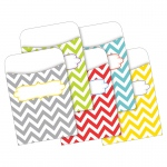(3 Pk) Peel & Stick Pockets Chevron Beautiful Multi-Design Set