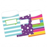 (3 Pk) Peel & Stick Pockets Happy Multi Design Set
