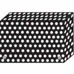 (6 Ea) Bw Dots Index Card Boxes 3x5 In