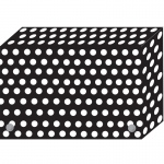 (6 Ea) Bw Dots Index Card Boxes 4x6 In