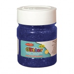 (6 Ea) Glitter 4oz Jar Blue Creative Arts