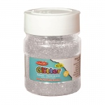(6 Ea) Glitter 4oz Jar Slvr Creative Arts