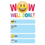 (6 Pk) Emoji Fun Well Done Award