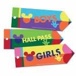 (6 Pk) Geo Mickey Hall Passes