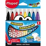 (6 Pk) Broad Tip Markers 8 Color Set