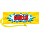 (6 Ea) Superhero Magnetic Girl Pass
