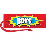 (6 Ea) Superhero Magnetic Boys Pass