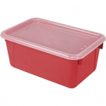 Small Cubby Bin With Cover Red Classroom