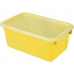 Small Cubby Bin With Cover Yellow Classroom