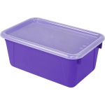 Small Cubby Bin With Cover Purple Classroom
