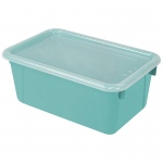 Small Cubby Bin With Cover Teal Classroom