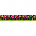 (4 Pk) Neon Stripe & Flower Border