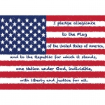Diecut Magnets Us Pledge Allegiance