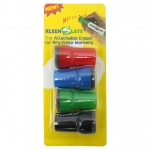 Attachable Erasers For Dry 4-Pk Erase For Lrg Barrel Marker Carded