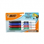 Bic Great Erase Dry Erase Fine Point Markers 4 Pack Low Odor