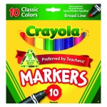 Crayola Taklon Watercolor 10ct Brush Classic Broad Line Markers