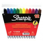 Sanford Sharpie Fine 12-Color Set Markers Felt Point