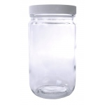 Wide Mouth Flint Jar with Cap: 32 Oz., 89/400