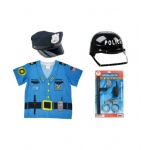 Aeromax My 1st Career Gear Police, Police Officer Accessory Set, Police Helmet and Police Cap