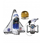 Aeromax Inflatable Space Shuttle, Youth Astronaut Helmet and  Astronaut Space Pack.