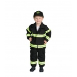 Aeromax Jr. Firefighter Suit, Size 18m (Black)