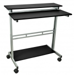 Luxor Adjustable Stand Up Desk: Black, 40″