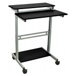 Luxor Adjustable Stand Up Workstation: Black, 31.5″