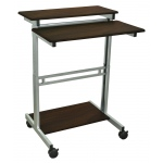 Luxor Adjustable Stand Up Workstation: Walnut, 31.5″