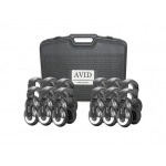 AVID Classroom Pack Durable Headphone: Model # 12CPSMB25VC, 12 Pieces