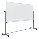 "Luxor Double-Sided Magnetic White Board 96"" x 40"""