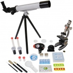 Elenco Microscope & Telescope Set with Survival Kit
