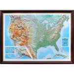 United States Basic Map with Foam Backing: 3D Maps With Panoramic Effect
