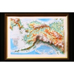 Alaska State Map: A4, Decorative 3D Map With Panorama Effect