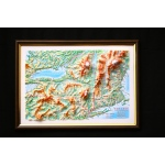 New York State Map: A4, Decorative 3D Map With Panorama Effect