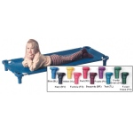 "Mahar Blue Replacement Cover for 52"" Stacking Cot"