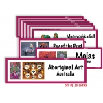 American Educational Art Display Cards-Global Folk Art
