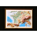 France Map: A4, Decorative 3D Map With Panorama Effect, French Language