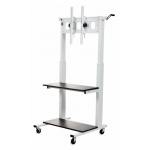 Luxor Adjustable Flat Panel TV Cart