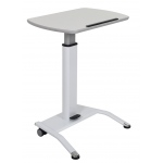 Luxor LX-PNADJ-WH Pnematic Height Adjustable Lectern