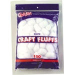 Craft Fluffs White 100/pk