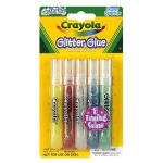Crayola Washable Glitter Glue Super Sparkle 5 Count