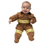 Aeromax Junior Fire Fighter Suit: Tan, Size for 6 to 12 Month