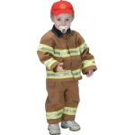 Aeromax Junior Fire Fighter Suit: Tan, Size for 18 Month