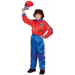 Aeromax Junior Champion Racing Suit with Cap: Red/Blue, Size for 2 to 3 Years