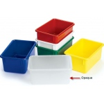 "Angeles Value Line Cubbie Tray: Opaque, 11"" Length"
