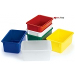 "Angeles Value Line Cubbie Tray: Red, 11"" Length"