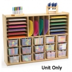 Angeles Value Line Multi-Section Storage with 15 Opaque Trays
