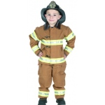 Aeromax Junior Fire Fighter Suit: Tan, Size for 8 to 10 Years