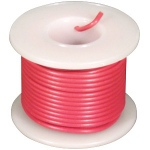 Elenco 22 AWG Solid Wire Spool: Red, 25 Foot